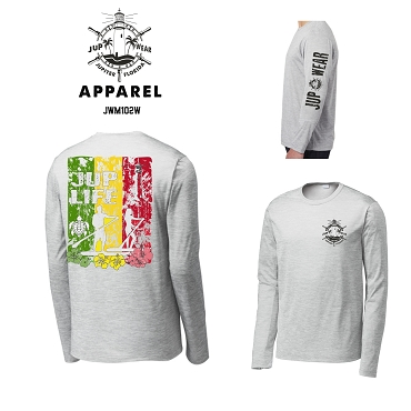 JUP Wear Rasta Stand Up Paddle Performance Long Sleeve